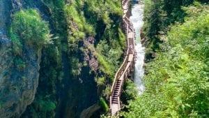 Sigmund Thun gorge from above